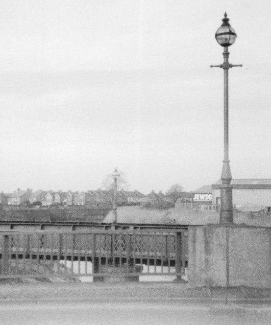 River scene in black and white.