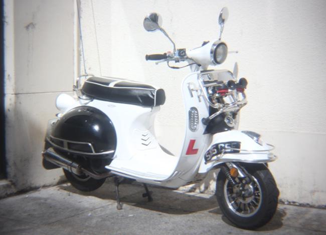A mod scooter.