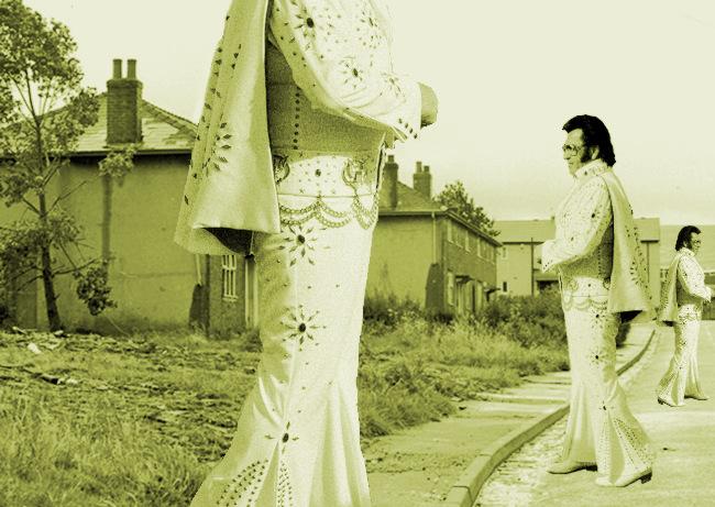 Elvises on a council estate.