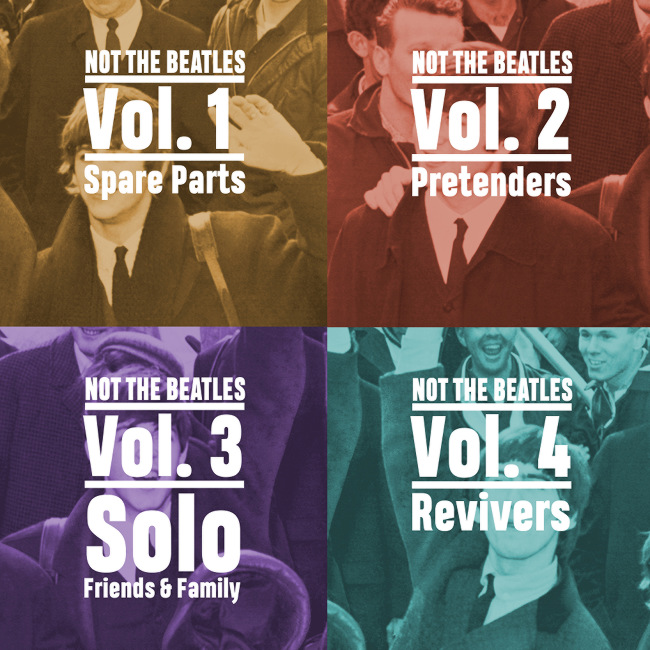 Not the Beatles -- playlist cover montage.