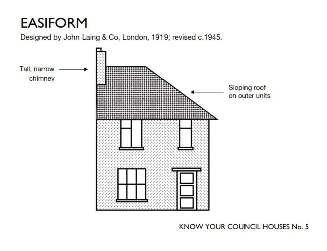Drawing of a council house.