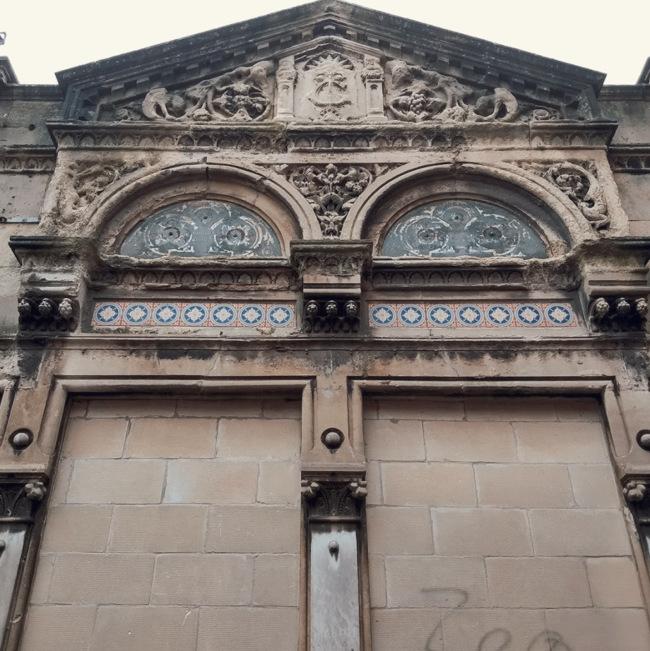 Victorian back street building.