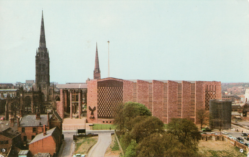 Postcard of Coventry Cathedral.