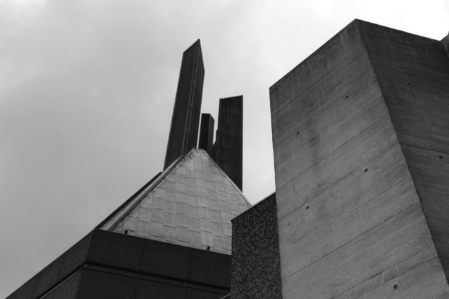 A modernist cathedral in concrete.