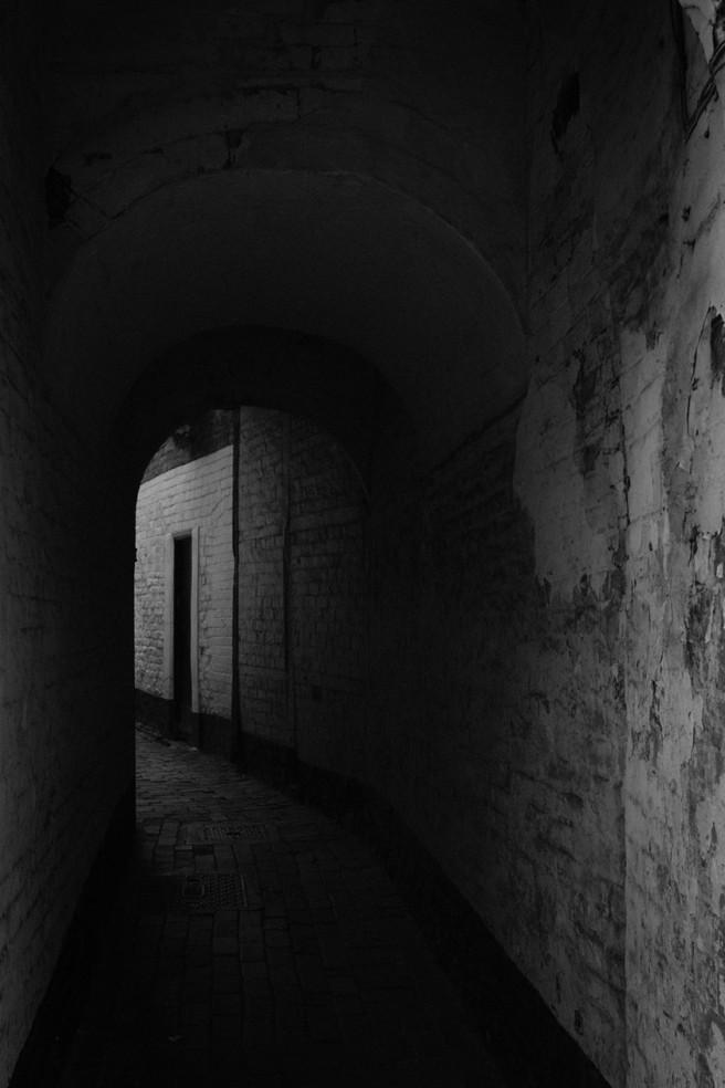 A dark alleyway