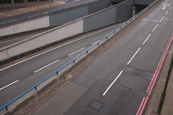 Empty roads in Birmingham