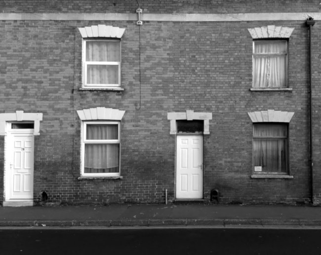 Terraced houses.