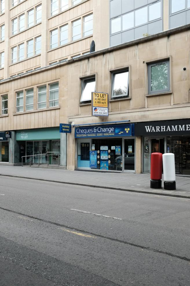 Empty city centre street.