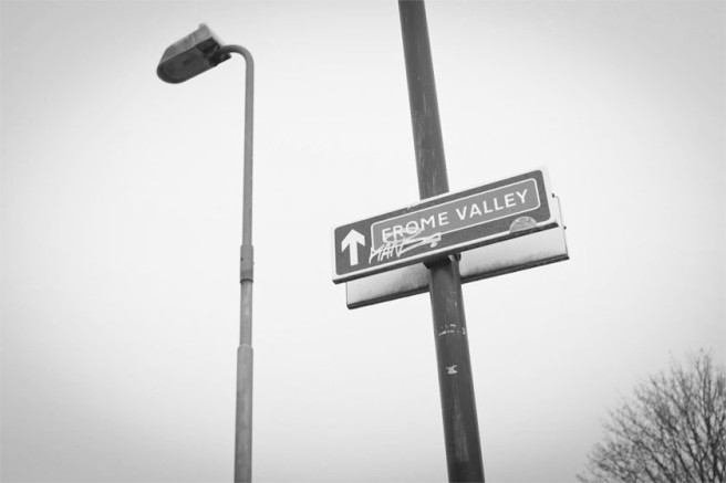 Frome Valley sign.