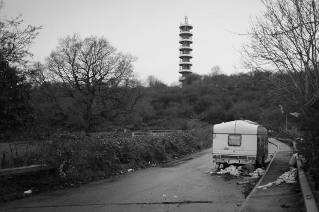 Caravan and Purdown communications tower.