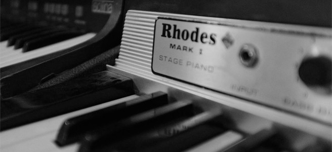 A Rhodes electric piano.
