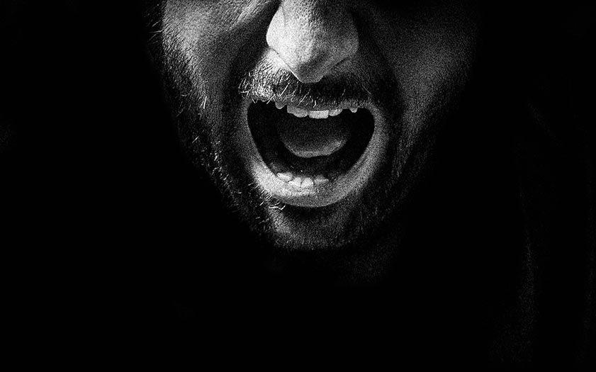 A silent scream.