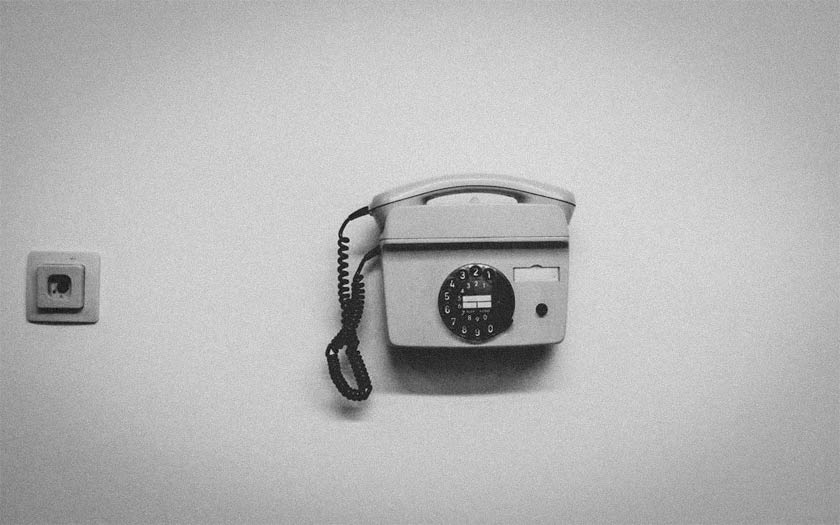 An institutional telephone.